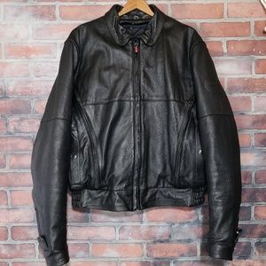 Firstgear Vintage Leather Motorcycle Jacket Bomber